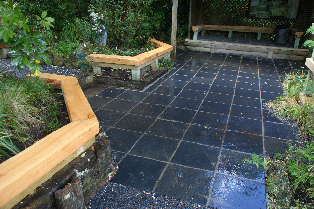 Landscaping auckland natural stone paving tim friday for Paving stone garden designs
