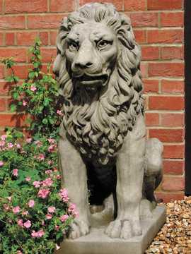 Large seated lion by Country Village