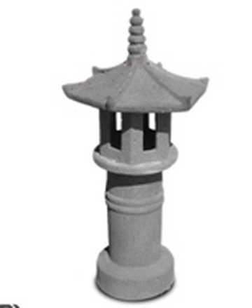 Old Stone Asian Lamp by Country Village