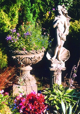 Statue and bowl by Country Village