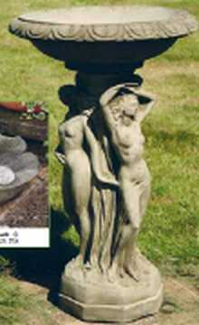 Three Graces birdbath by Country Village