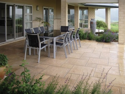 Terrace paving by design