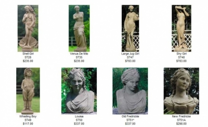 Female Busts and Figures by Country Village