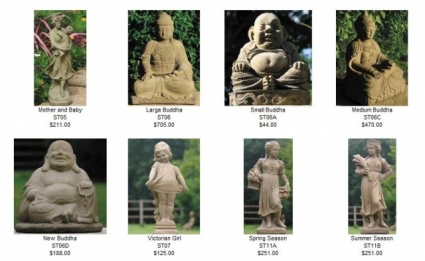 Statues and Buddas by Country Village